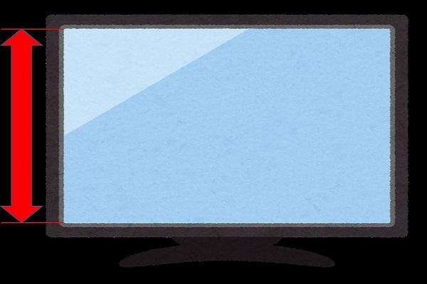画面の縦の長さ