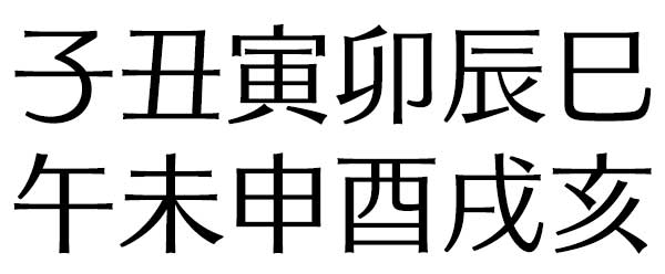 たつみ ね 漢字 うし とら う