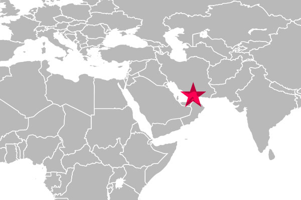 ペルシャ湾とオマーン湾の間