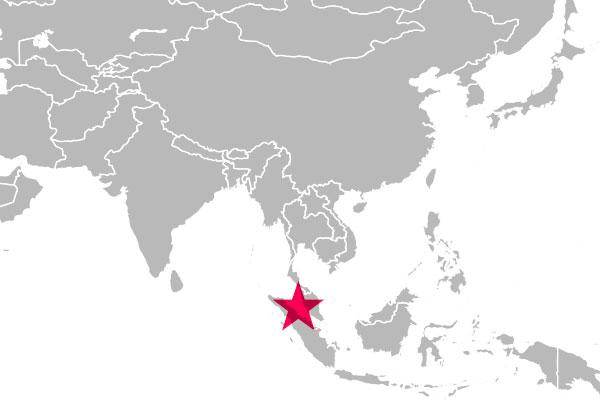 マレー半島とスマトラ島の間